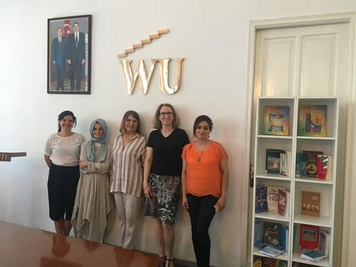 Sabina García Peter and Heike Pantelmann together with colleagues at Western University in Baku, Azerbaidjan