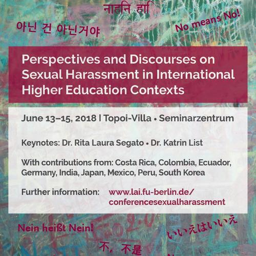 "Ausschnitt aus Konferenzplakat ""Perspectives and Discourses on Sexual Harassment in International Higher Education Contexts"""