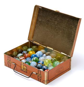 Box with Marbles