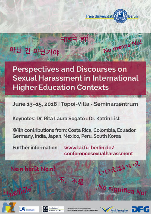 "Poste for the International Conference ""Perspectives and Discourses on Sexual Harassment in International Higher Education Contexts"""