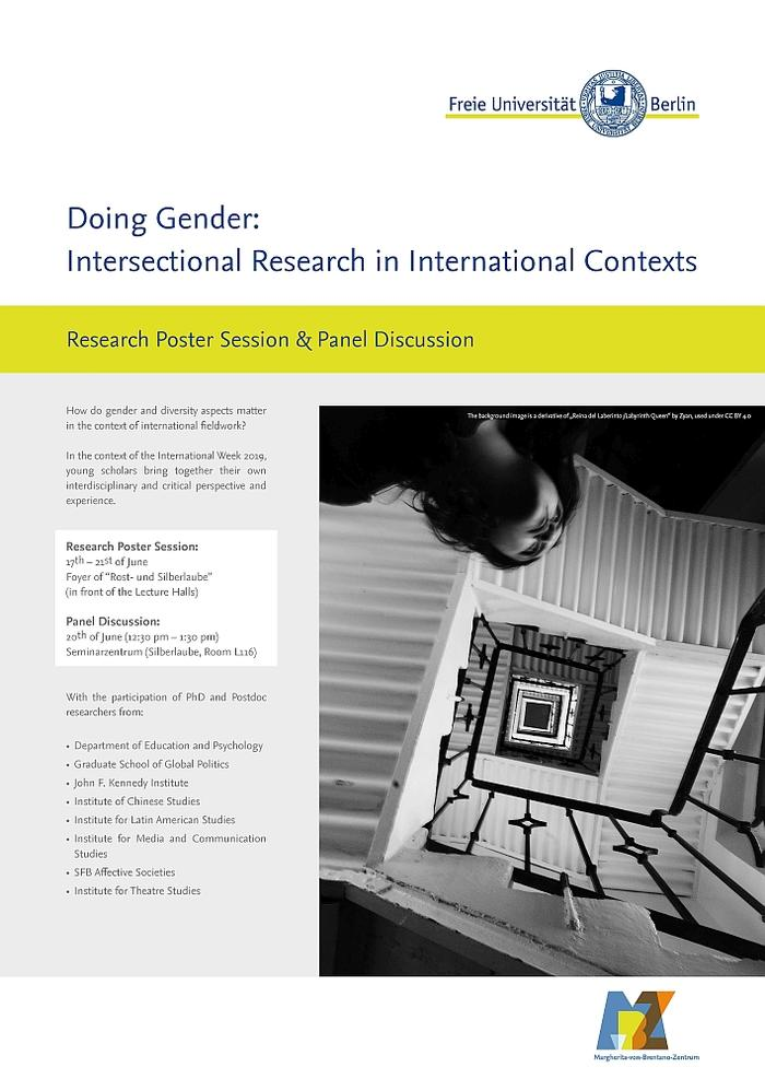 "Research Poster Session on ""Doing Gender/Intersectional Research in International Contexts"""