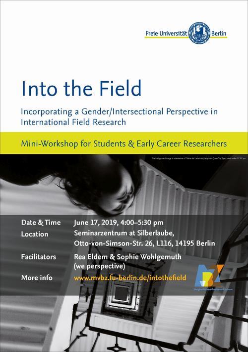"Plakat Workshop ""Into the Field"""