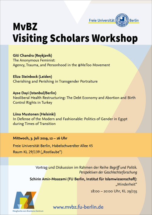 MvBZ Visiting Scholars Workshop, SoSe 2019