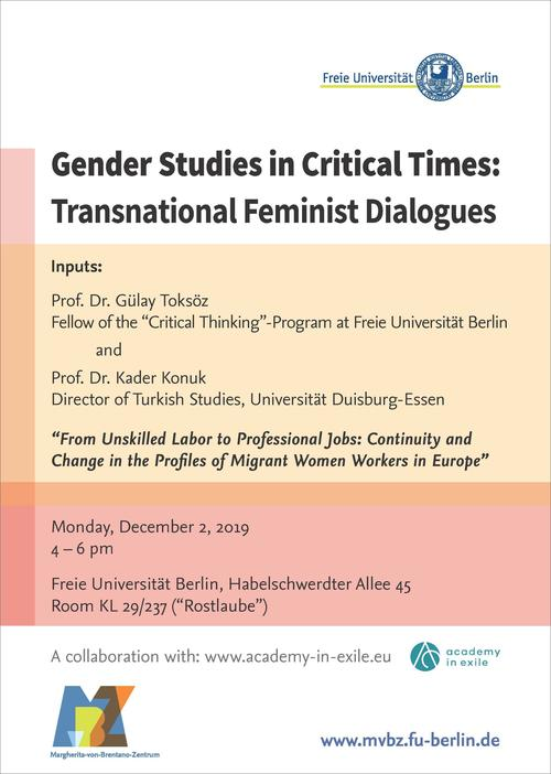 Gender Studies in Critical Times: Transnational Feminist Dialogues