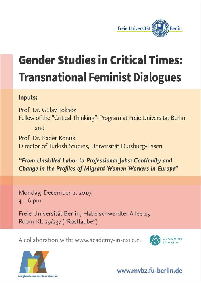 20191122_Plakat_Gender Studies in Critical Times_WiSe2019-20_WEB