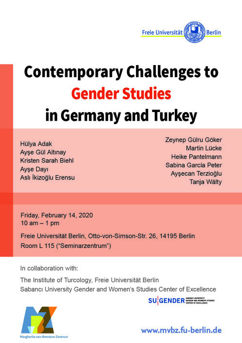 "Plakat ""Gender Studies in Critical Times"", WiSe 2019/20"