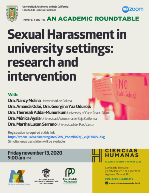 Sexual Harassment in University Settings, 13.11.2020