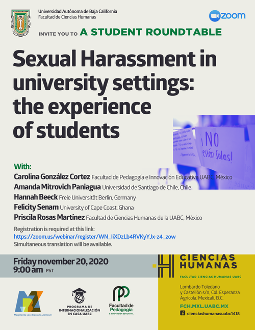 Sexual Harassment in University Settings, 20.11.2020
