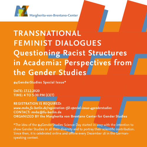 Transnational Feminist Dialogues: #4GenderStudies: Special Issue